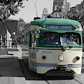San Francisco - The E Line Car 1008 by Richard Reeve