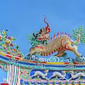 San Jao Phut Gong Dragon Goat On Dragon Roof Dthu0723 by Gerry Gantt
