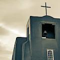 San Miguel Mission Chapel - Santa Fe New Mexico In Sepia by Gregory Ballos