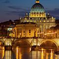 San Pietro Dome At Night by Brian Jannsen