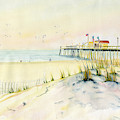 Sand Dunes At Ocean City Beach Maryland by Melly Terpening