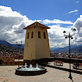 Santa Ana Church Tower Cusco Peru by James Brunker