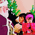 Santa And The Kids by CHAZ Daugherty