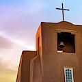 Santa Fe San Miguel Mission Chapel At Sunrise by Gregory Ballos