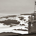Santa Fe Sunrise - Bataan Memorial - New Mexico Sepia by Gregory Ballos