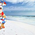 Santa Lifeguard by Kay Brewer