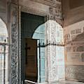 Santa Maria In Trastevere Doorway Rome Italy by Joan Carroll
