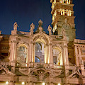 Santa Maria Maggiore Basilica Rome Italy Night by Joan Carroll