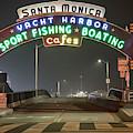 Santa Monica Pier Entrance  by John McGraw
