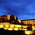 Santo Domingo Convent At Blue Hour Cusco Peru by James Brunker