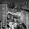 Sao Paulo Downtown By Night by Carlos Alkmin