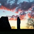 Sarsen Stones Avebury Sunrise by Tim Gainey