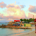 Saturday Evening At Island Harbour In Anguilla by Ola Allen