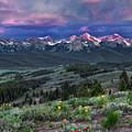 Sawtooth Sunrise by Leland D Howard