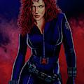 Scarlett Johansson As Black Widow by Paul Meijering