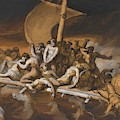 Scene Of Cannibalism For The Raft Of The Medusa by Gericault Theodore