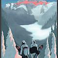 Scenic Vista Snowboarders by Sassan Filsoof