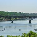 Schuylkill River View - Strawberry Mansion Bridge by Bill Cannon