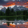 Schwabacher Landing Sunset by Ronnie and Frances Howard