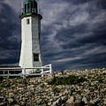 Scituate Lighthouse Against The Stormy Sky by Jeff Folger