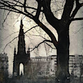 Scott Monument Silhouette by Dave Bowman