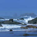 Sea Stacks And Surf Harris State Beach Oregon by Dave Welling