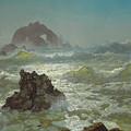 Seal Rock, California, 1872  by Albert Bierstadt