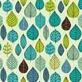 Seamless Pattern On Leaves Theme by Markovka
