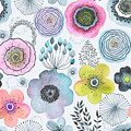Seamless Watercolor Abstraction Floral by Nikiparonak