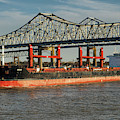 Seas 1 Bulk Carrier 9589085 On The Mississippi by Bill Swartwout Photography