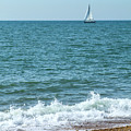 Seascape With Boat by Helen Northcott