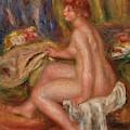 Seated Nude In Room, 1917 by Pierre Auguste Renoir