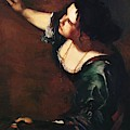 Self Portrait As The Allegory Of Painting 1639 by Gentileschi Artemisia
