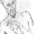 Self-portrait Pencil Reach 11 by Artist Dot