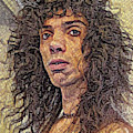 Self Portrait - The Shawn Mosaic - 80s Glam Rock by Shawn Dall