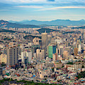 Seoul In Afternoon Light by Rick Berk