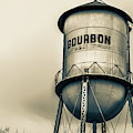 Sepia Bourbon Water Tower - Whiskey Art by Gregory Ballos