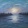 Serene River Sunset by Renee Ober