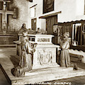 Serra Memorial Cenotaph In The Serra Chapel Circa 1936  by California Views Archives Mr Pat Hathaway Archives