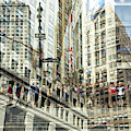 Seventh Avenue Double Exposure New York City by John Rizzuto