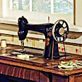 Sewing Machine In Kitchen by Susan Savad