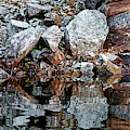 Shawanaga Rock And Reflections Vi by Debbie Oppermann