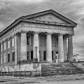 Shawneetown Bank In Black And White by Susan Rissi Tregoning