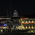 Shem Creek At Night - Mount Pleasant by Dale Powell