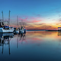 Shem Creek Blue Hour, Mt. Pleasant Sc by Donnie Whitaker