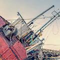 Ship Wreck Provincetown Breakwater 2 by Edward Fielding