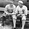 Shoeless Joe Jackson And Babe Ruth by New York Daily News Archive