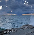 Shoreline Rain Clouds by Laurie Hein