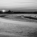Short Beach Sunset Nahant Ma Black And White by Toby McGuire