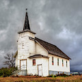 Shuttered Church In Cartwright North Dakota by Harriet Feagin
